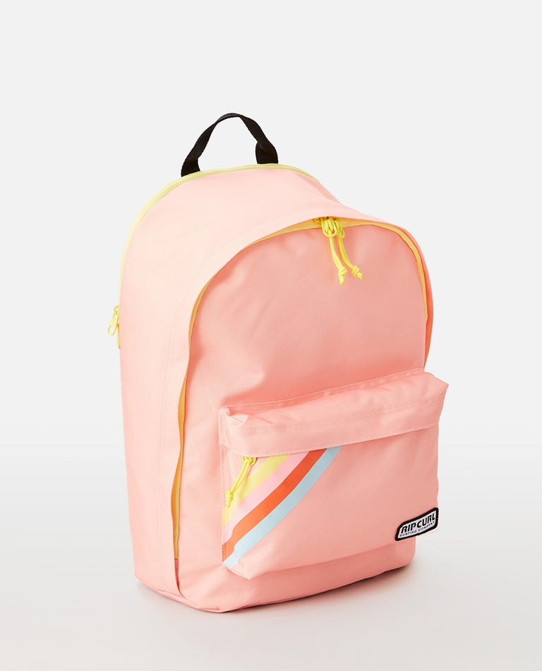 Dome Deluxe 18L Surf Revival Stripe Backpack in Peach
