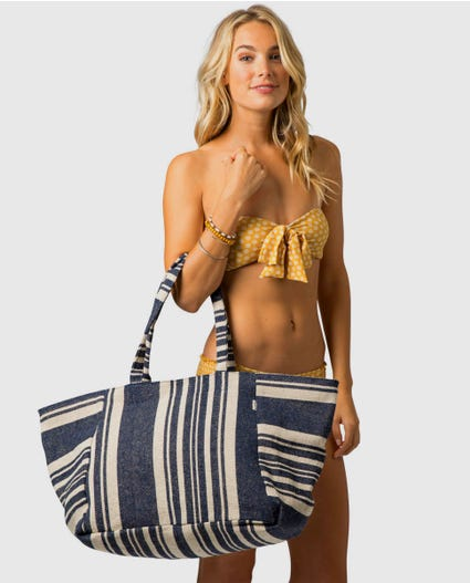 Coastal Tides Jumbo Tote in Bone
