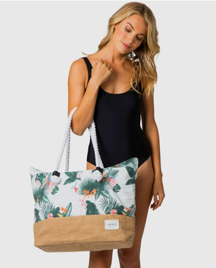 Morning Sky Beach Tote in White