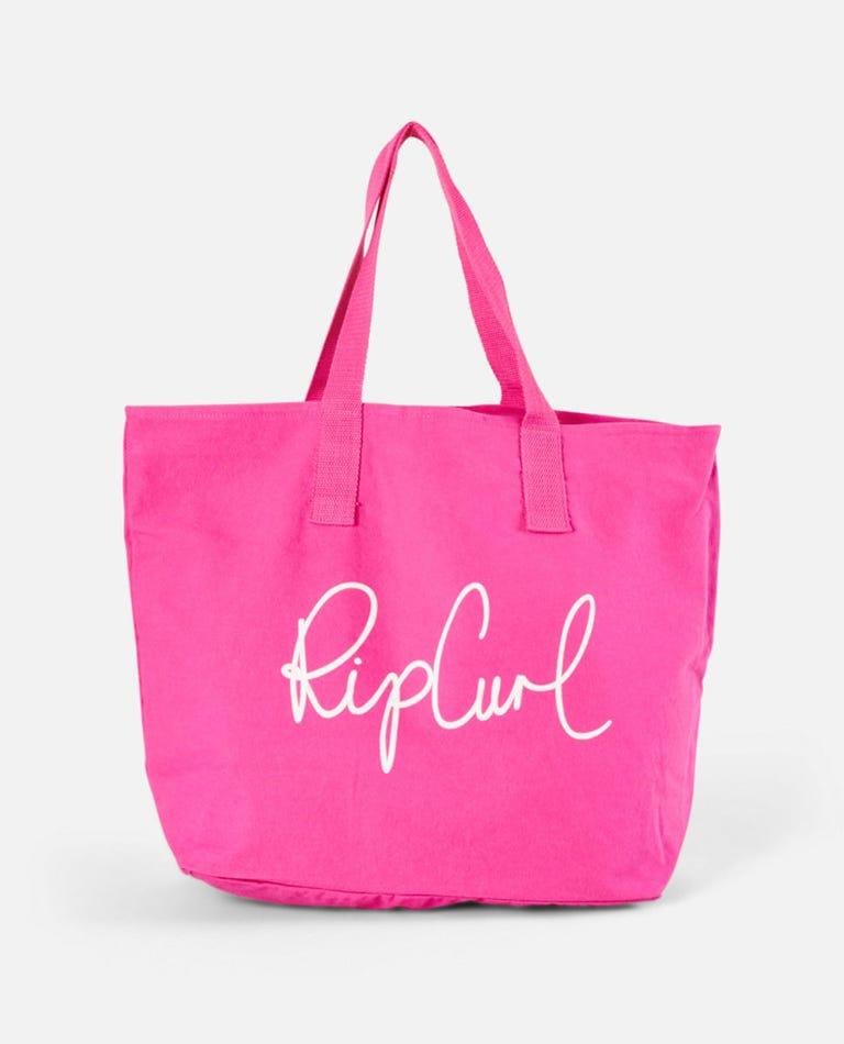 White Wash Basic Tote Bag in Pink