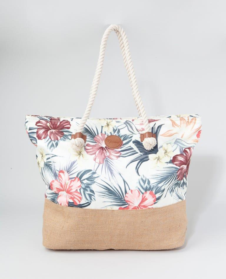 Anini Beach Tote Bag in Off White