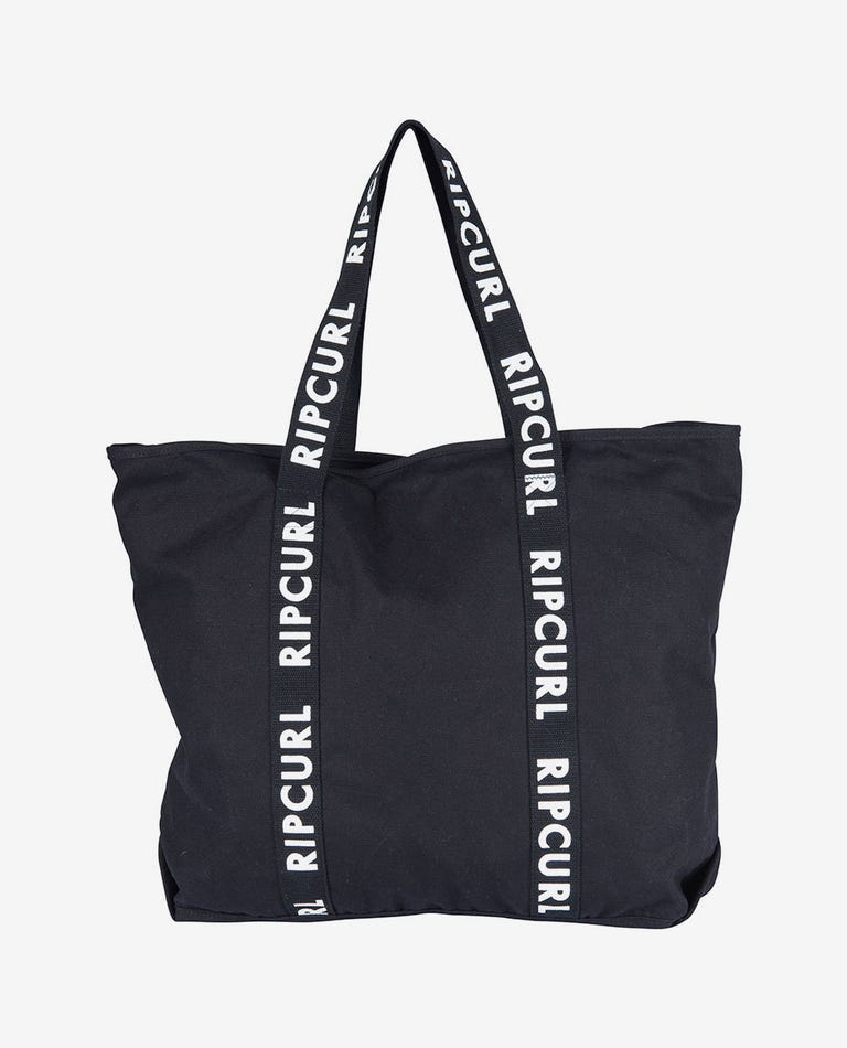 Essentials Standard Tote in Black/White