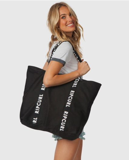 Essentials Standard Tote in Black / White