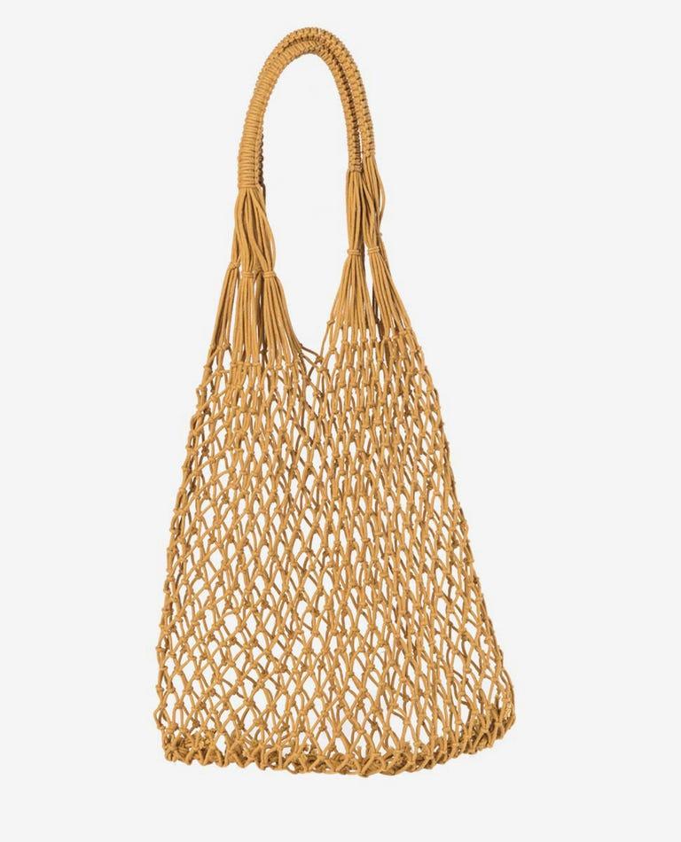 Coastal String Bag in Mustard