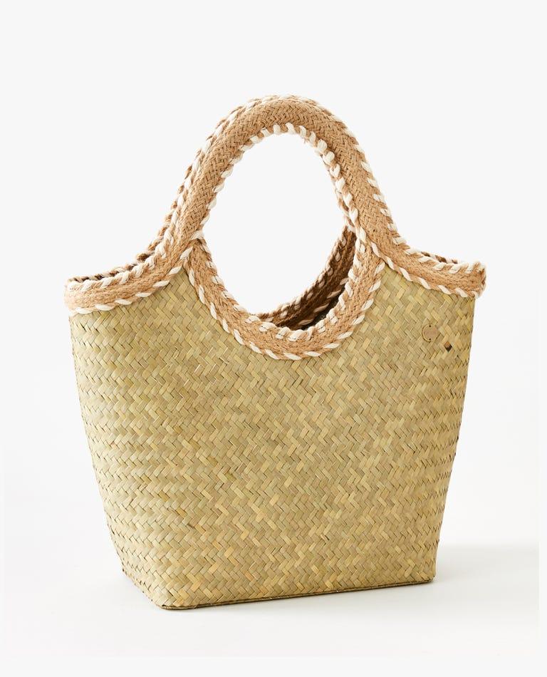 Leilani Straw Bag in Natural