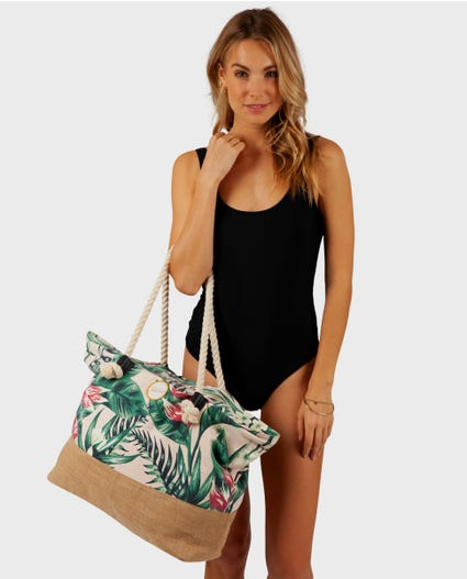 Tropic Heat Tote Bag in Light Pink