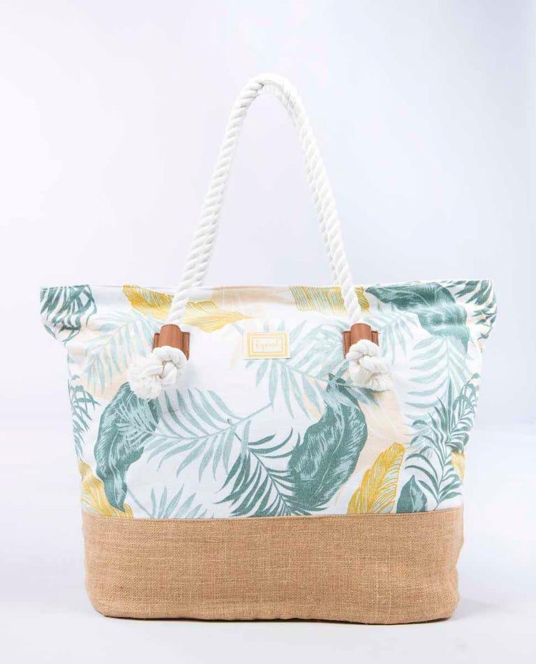 Canvas Multi Beach Bag in White