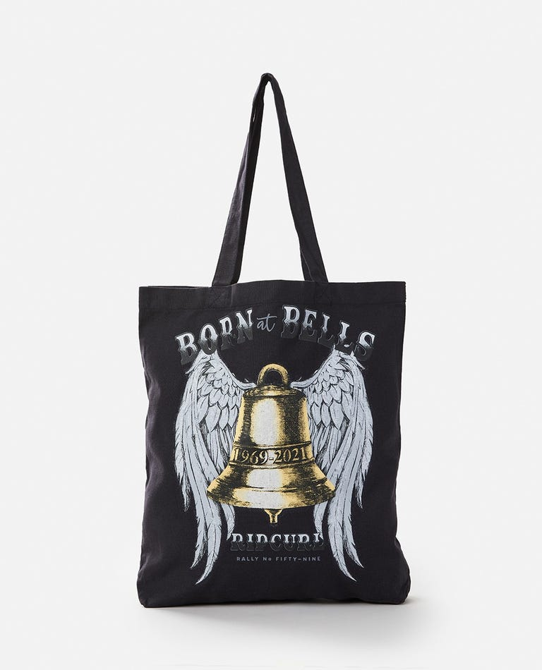 Born At Bells Tote Bag in Washed Black