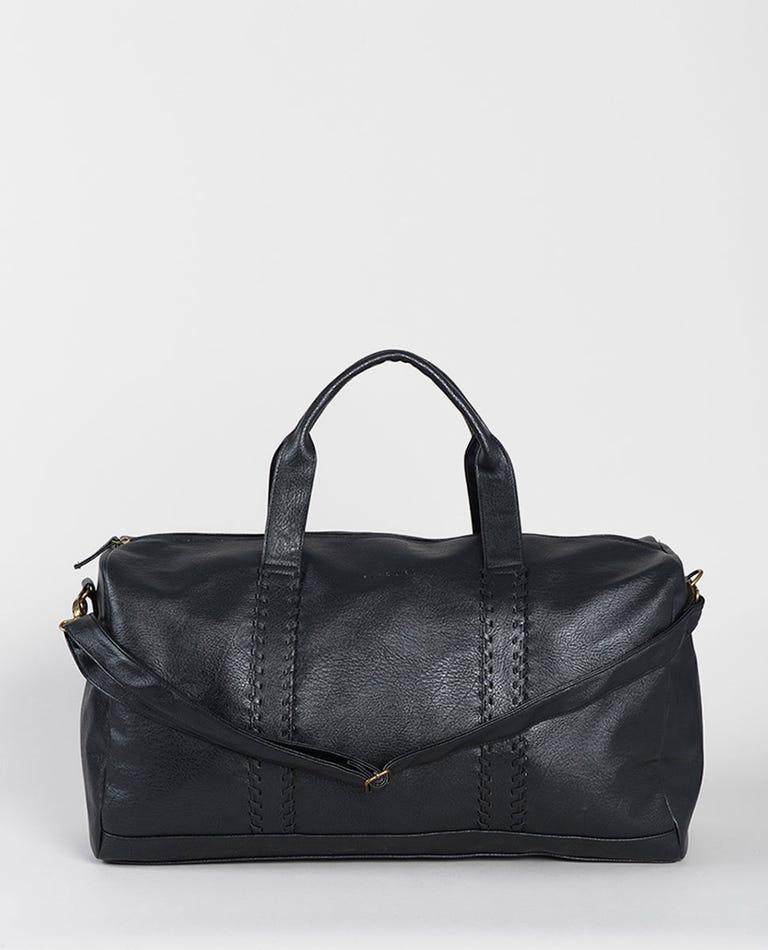 Manhattan Duffle PU Bag in Black