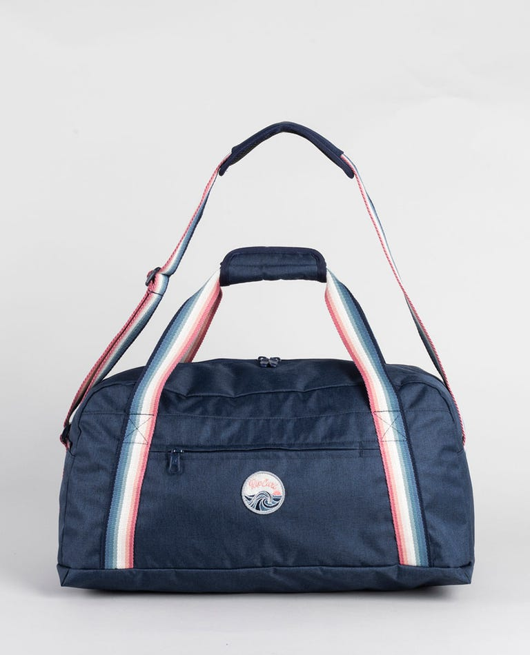 Keep On Surfin Mid Duffle Bag in Navy