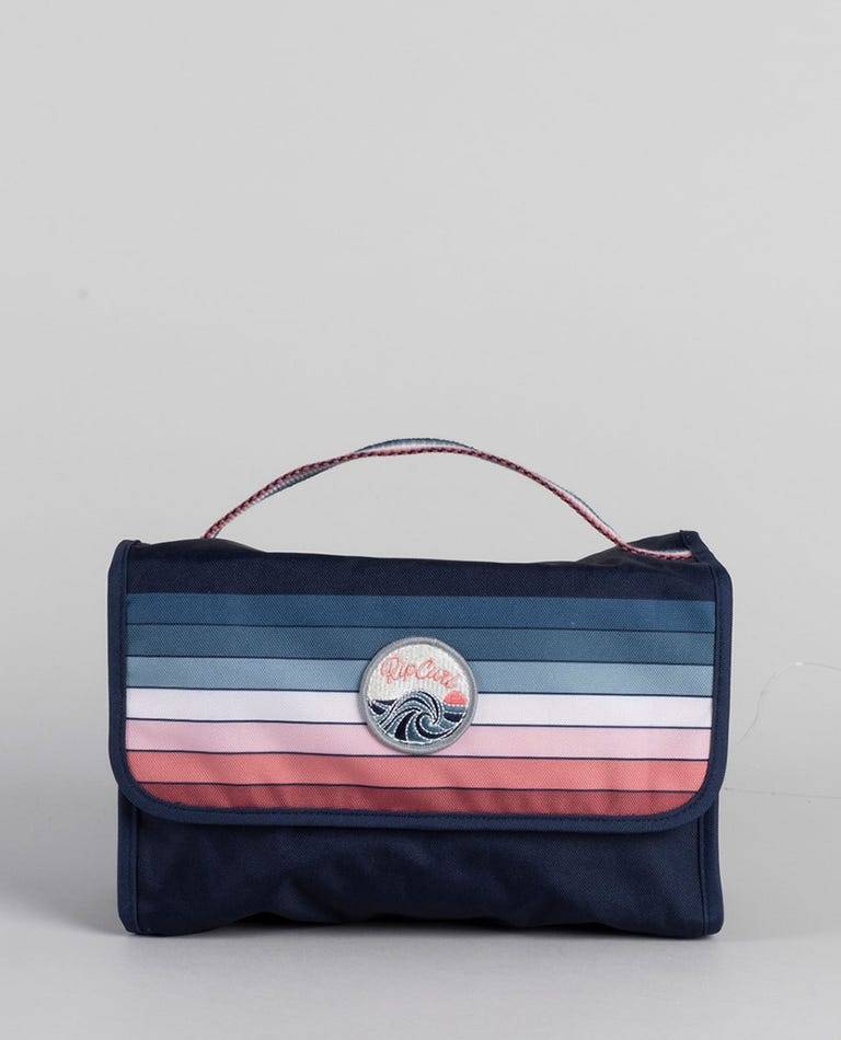 Keep On Surfin Rolled Beauty Bag in Navy
