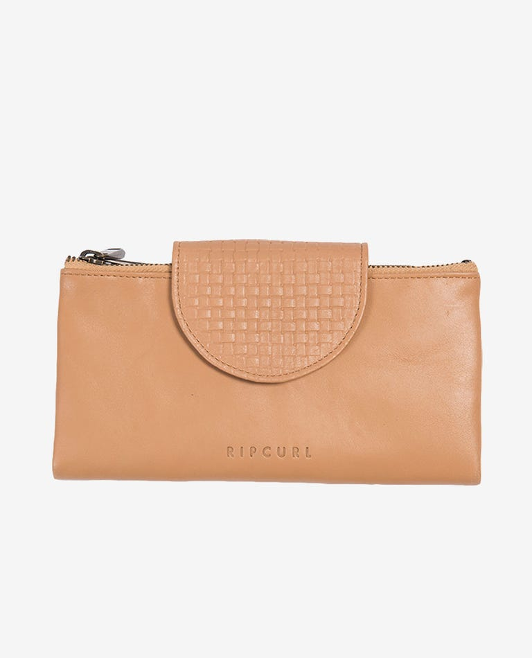 Paradise Cove RFID Oversized Leather Wallet in Natural
