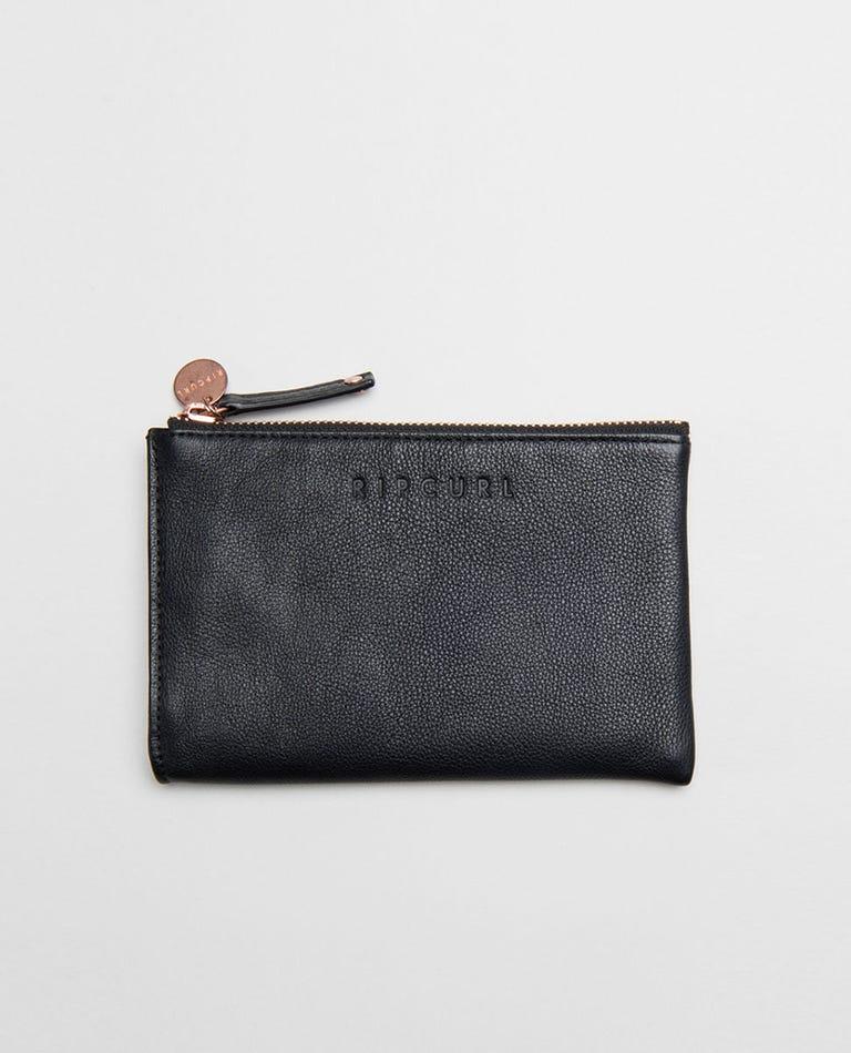 Mini RFID Leather Coin Purse  in Black