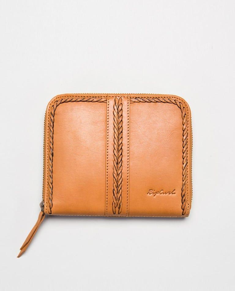 Julia RFID Leather Wallet in Honey