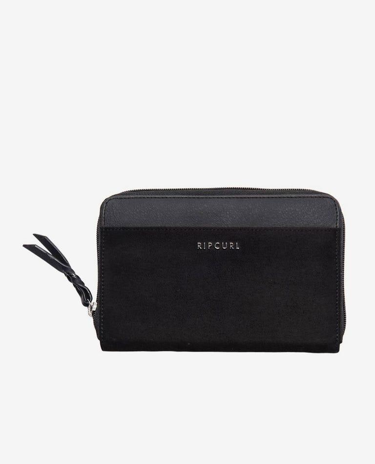Castaway Oversize Wallet in Black