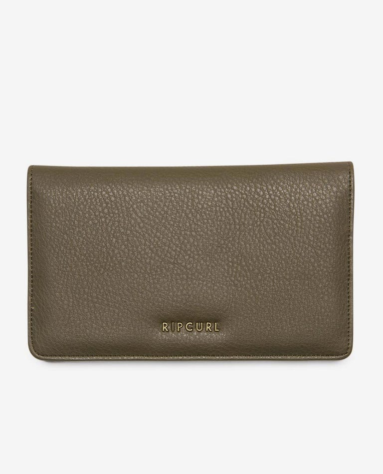 Troubadour Cheque Book Wallet in Olive