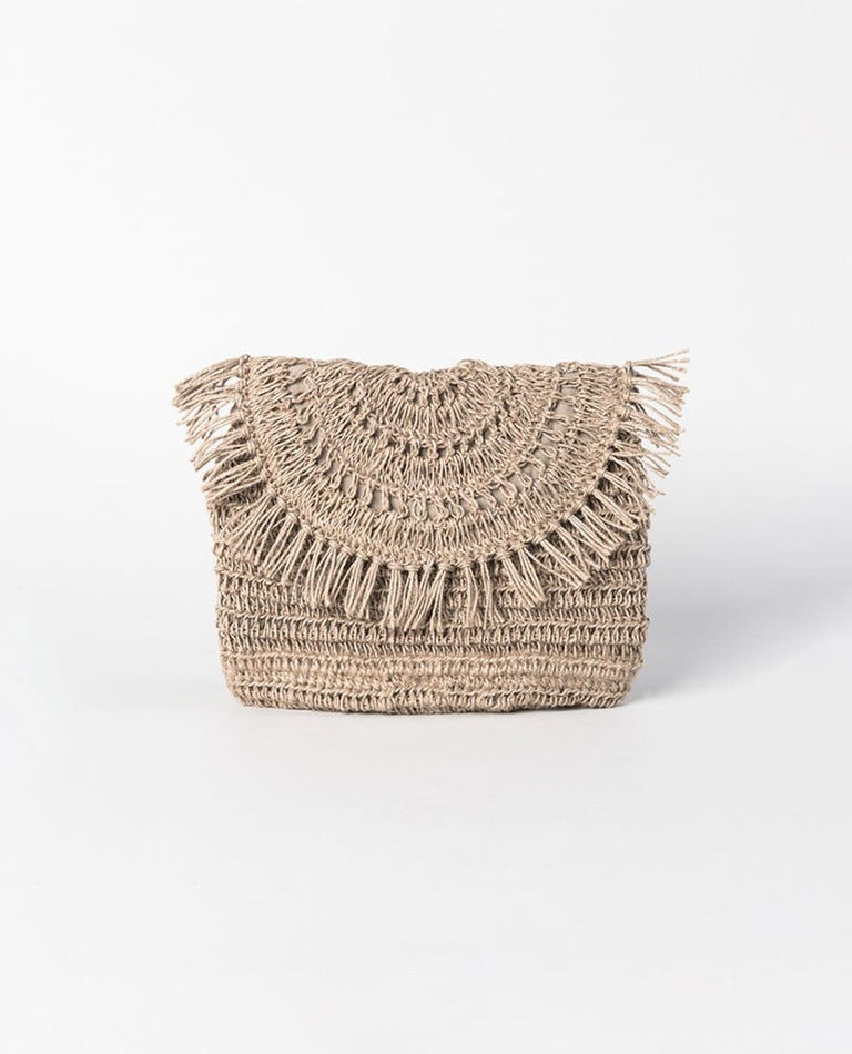 Paradise Cove Clutch in Natural