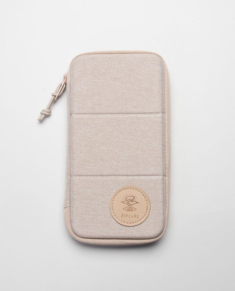 Searchers RFID Travel Wallet in Bone