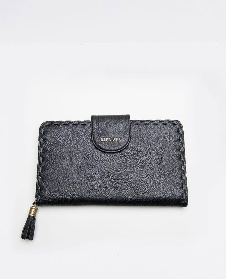 Brooklyn RFID Oversized Travel Wallet in Black