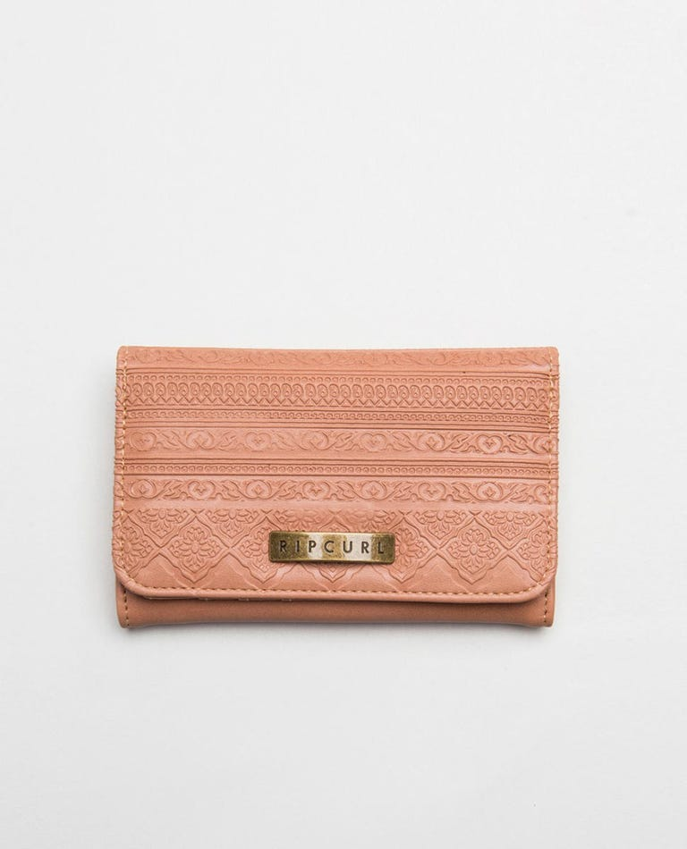 Spice Temple Mid Wallet in Dusty Rose