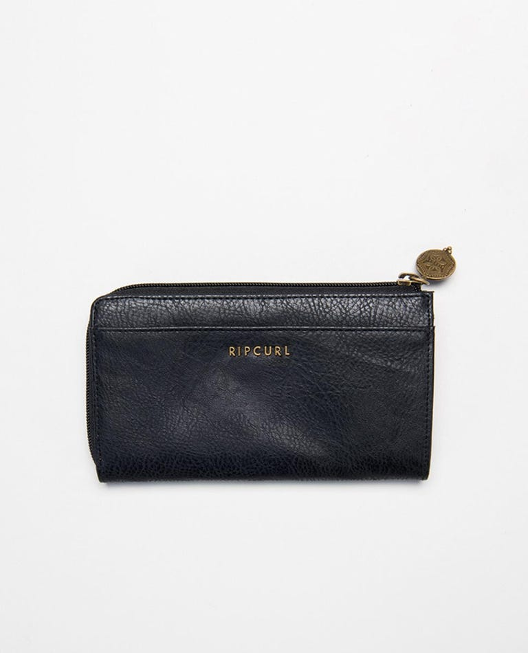 Luna Zip Around Wallet in Black