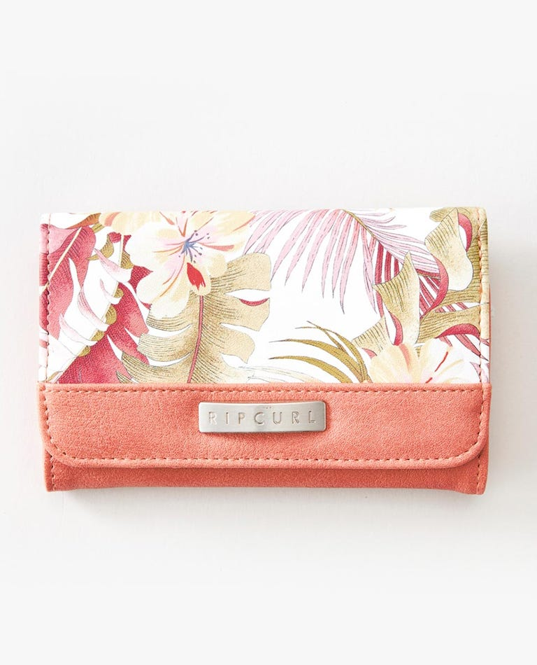 Leilani Mid Wallet in Coral