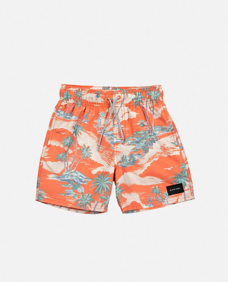 Dreamers Volley Short - Boys (0 - 6 years) in Red