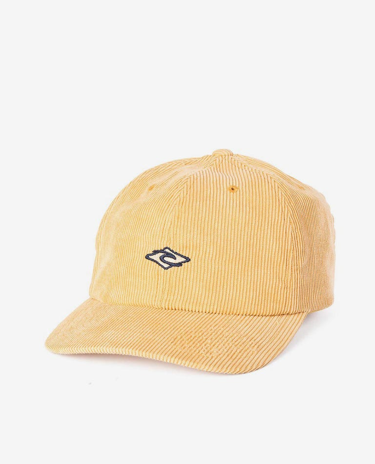 Diamond Cord Dad Cap - Groms in Bright Yellow
