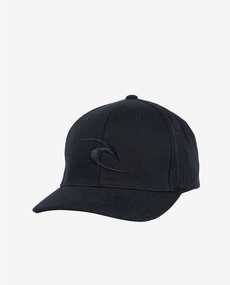Tepan Curve Peak Cap - Grom Mini Boys in Black