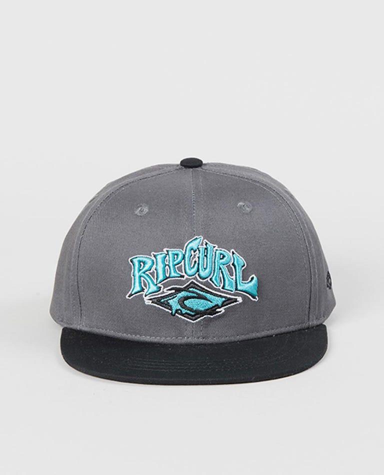 Spike Diamond Snapback Cap - Grom in Dark Grey