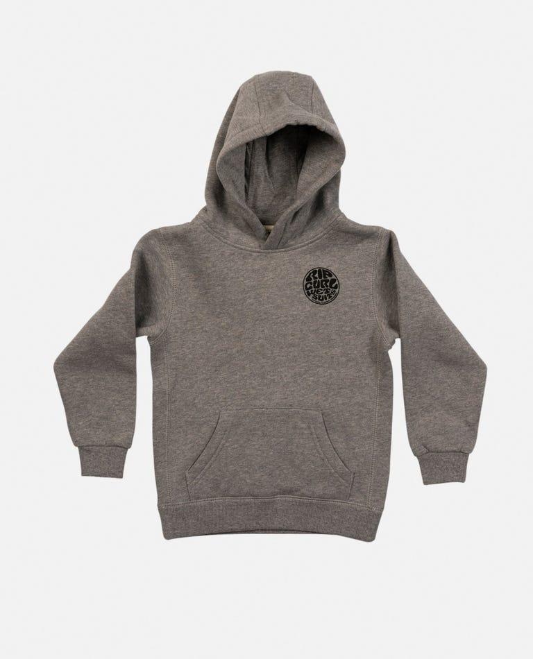 Wetty Mono Hood - Boys (0 - 6 years) in Grey Marle