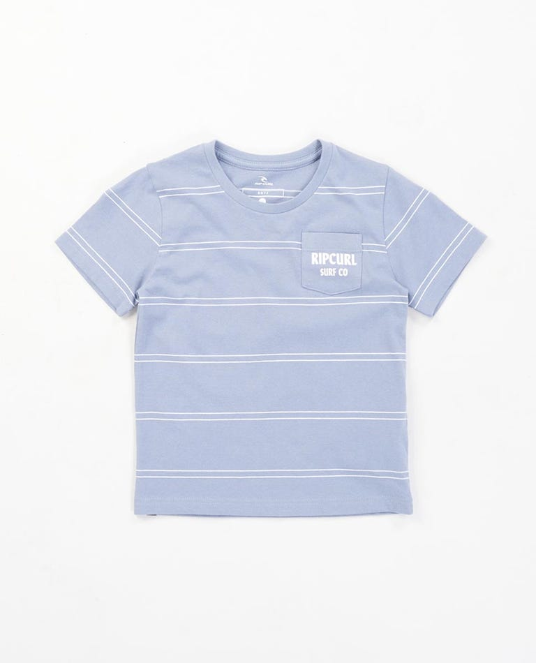 Stripey Pocket Tee Boys (0-6 years) in Dark Blue