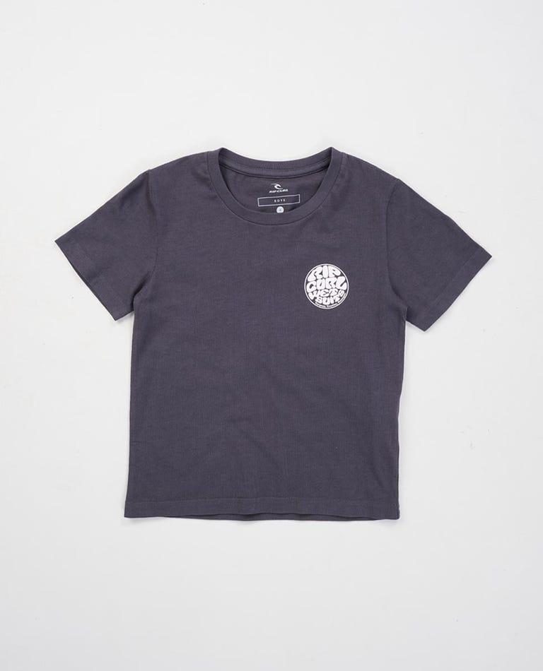 Wettie Logo Tee Boys (0 - 6 years) in Black/White