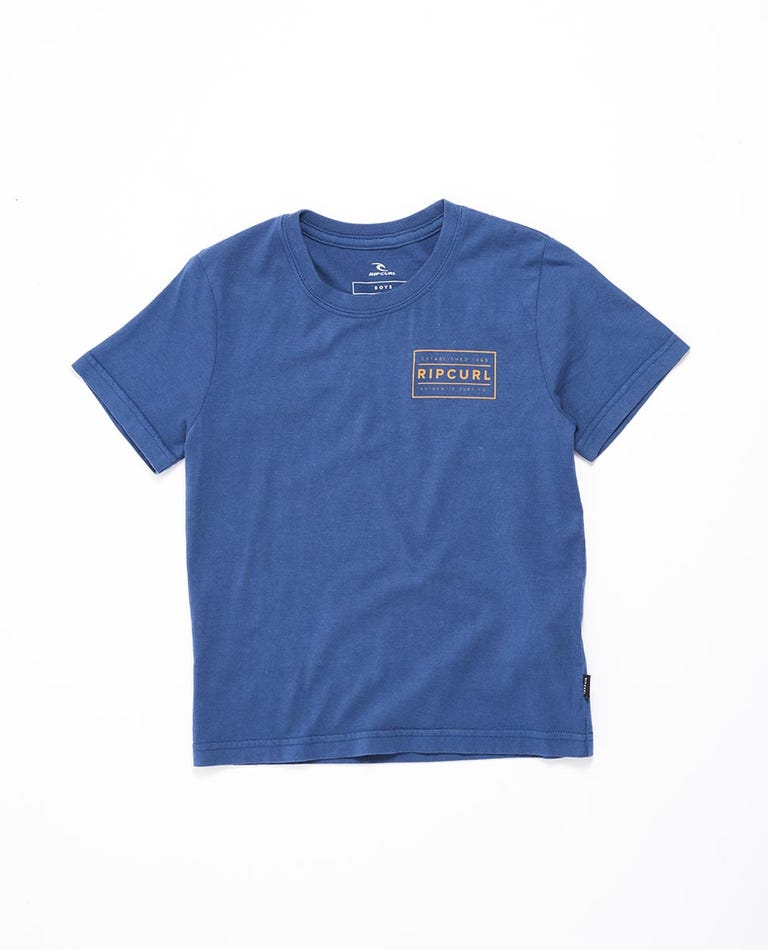 Driven Box Tee Boys (0 - 6 years) in Royal Blue