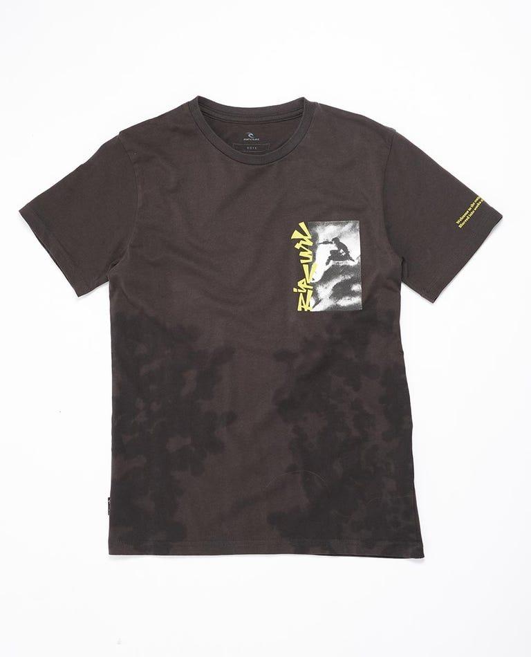 Surf Heads Tie Dye Tee Boys (0 - 6 years) in Washed Black