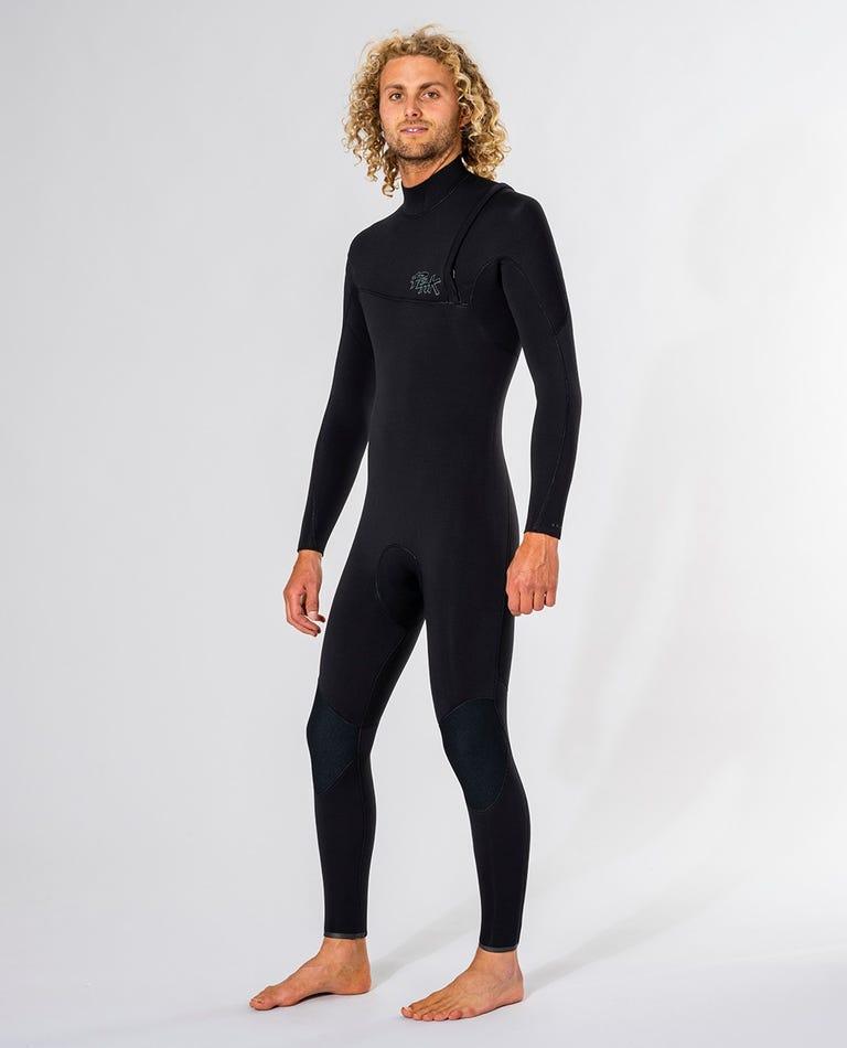 Peak Climax Pro 4/3 GB Sealed Zip Free Wetsuit in Black