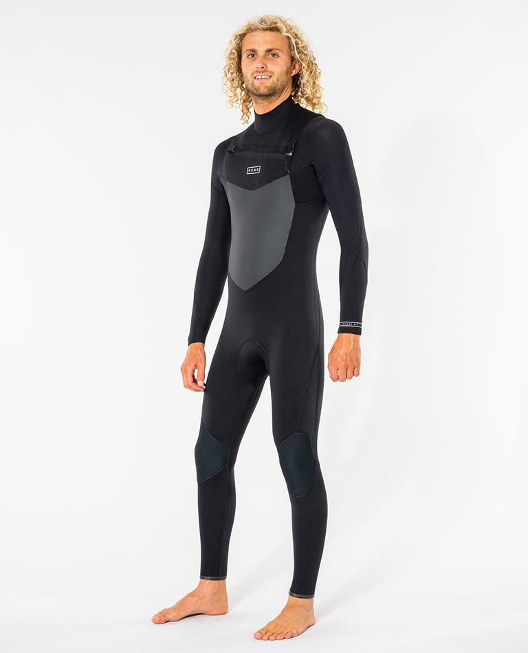 Peak X-Dry 3/2 GB Sealed Chest Zip Wetsuit in Black
