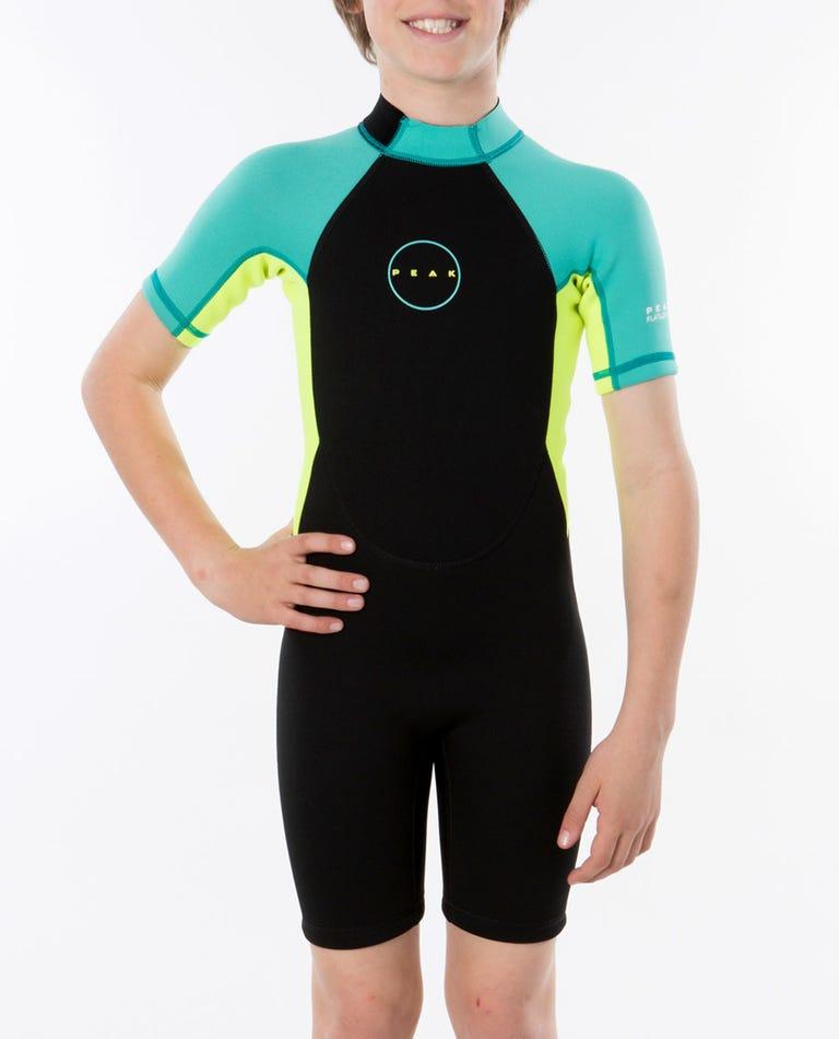 Peak Girls Energy Short Sleeve Wetsuit Spring in Turquoise