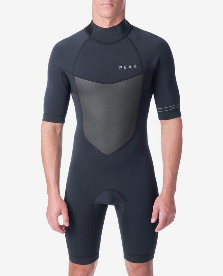 Climax 2/2 Flatlock Short Sleeve Spring Wetsuit in Black