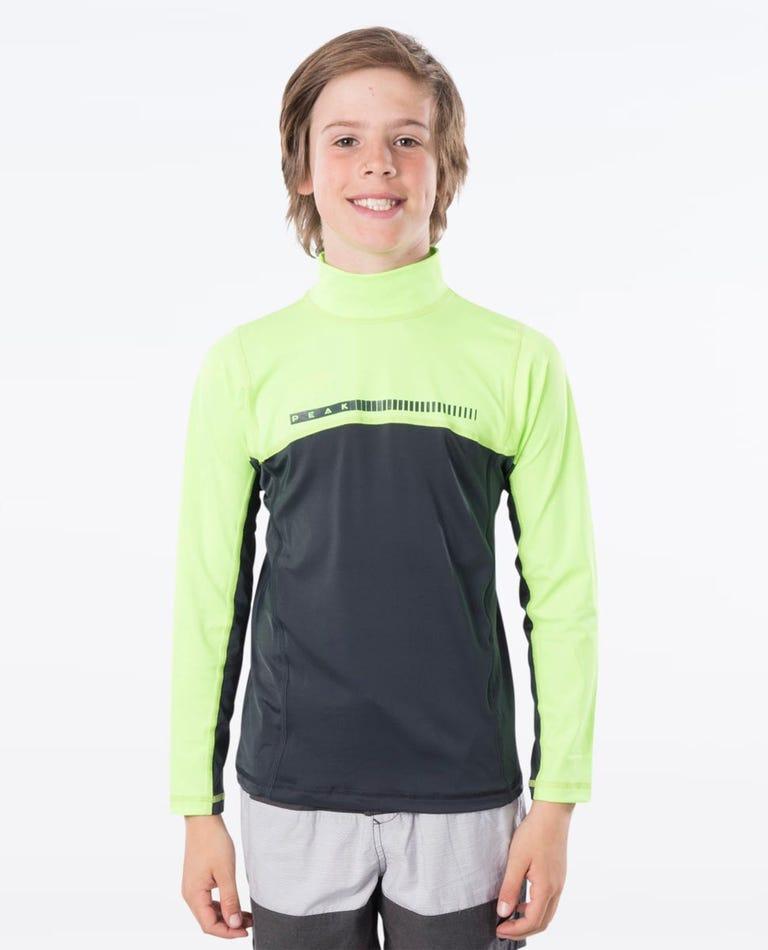 Boys Long Sleeve UV Tee in Lime