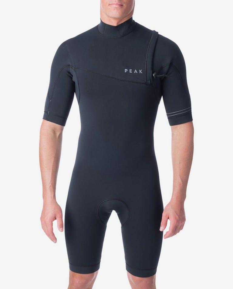 Climax 2/2 GB Zip Free Short Sleeve Spring Wetsuit in Black