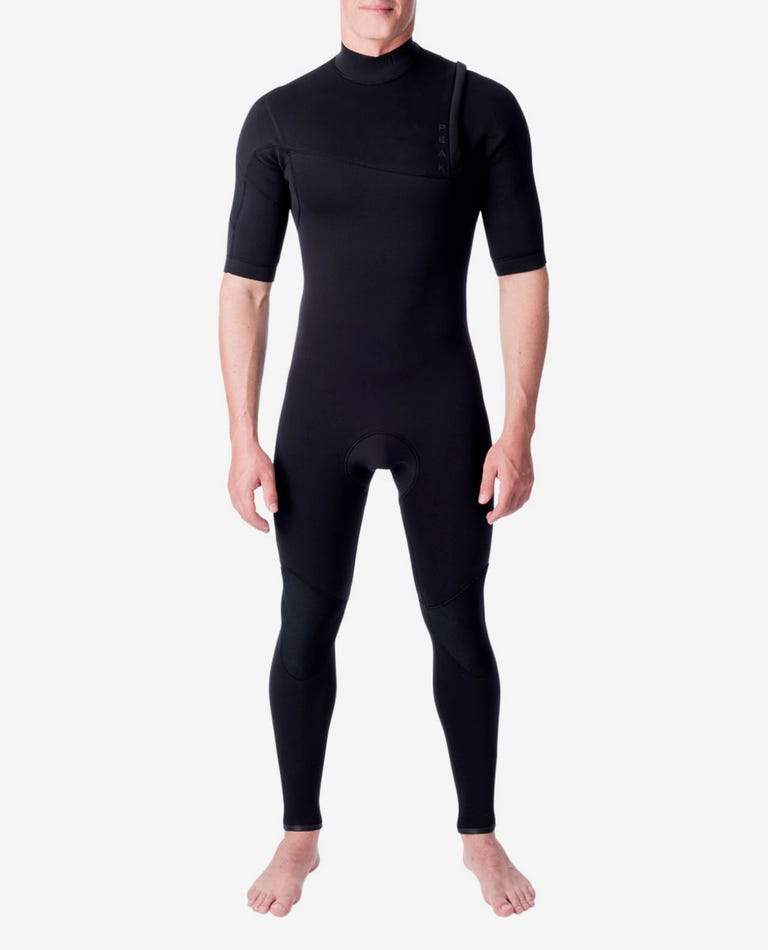 Climax Pro Zip Free 2/2 GB Short Sleeve Wetsuit Steamer in Black