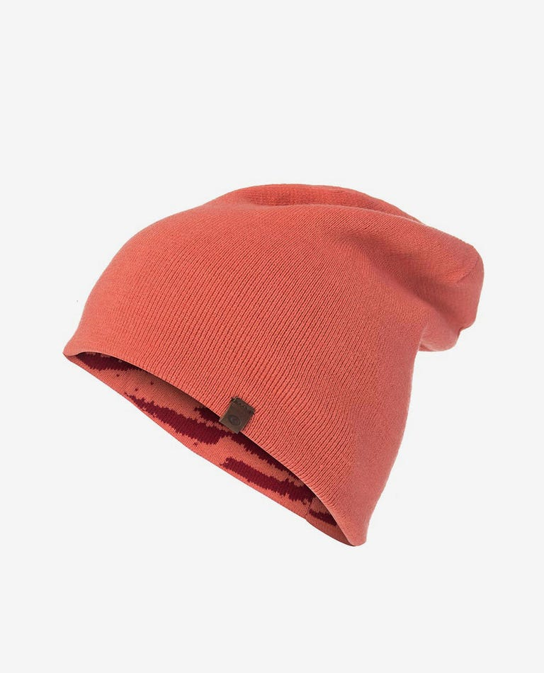 Brash Snow Beanie in Red Orchid