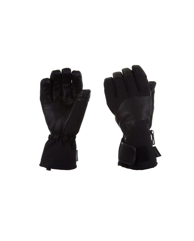 Premium Mountainwear Snow Gloves Men in Jet Black