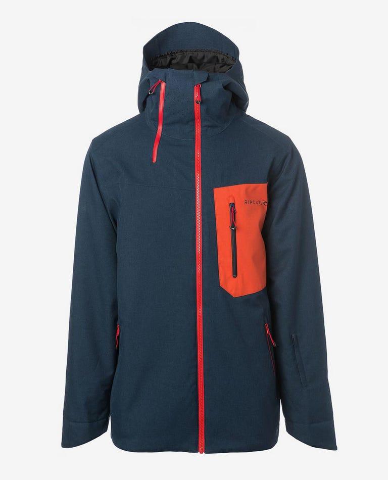 Rebound Fancy Mountainwear Snow Jacket in Dress Blue