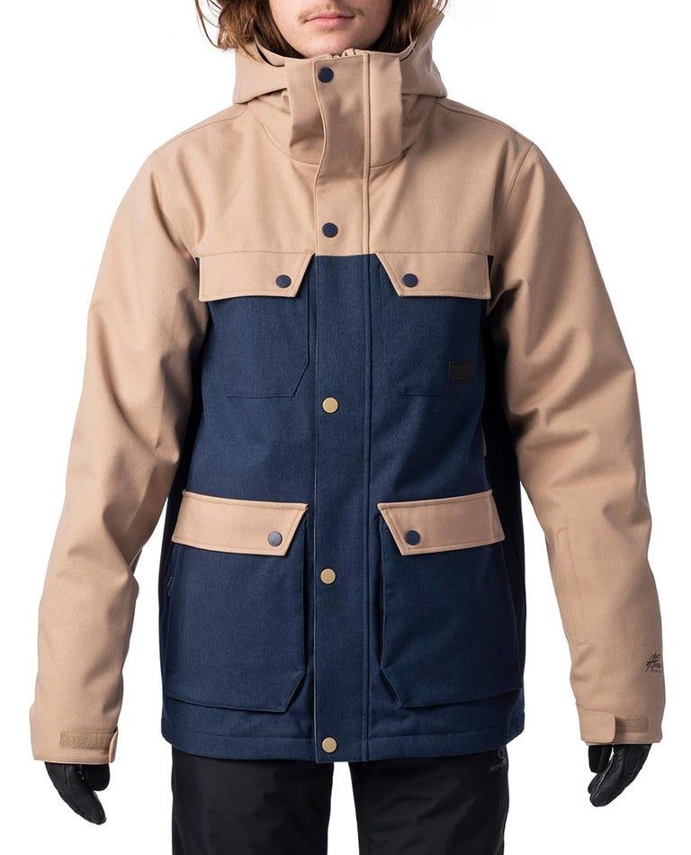 Cabin Snow Jacket in Mood Indigo