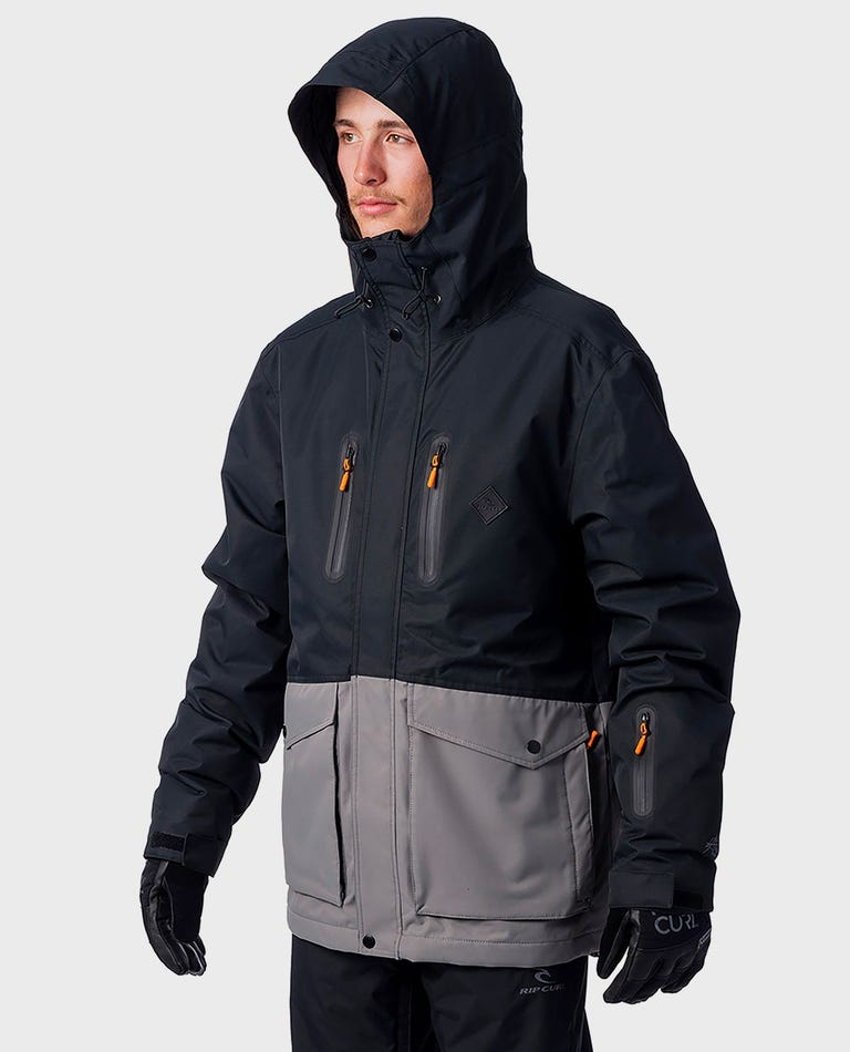 Palmer Snow Jacket in Jet Black
