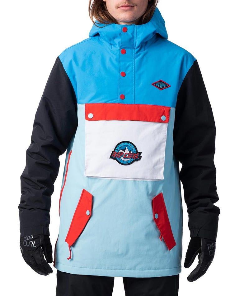 Primitave Anorak Snow Jacket  in Swedish Blue