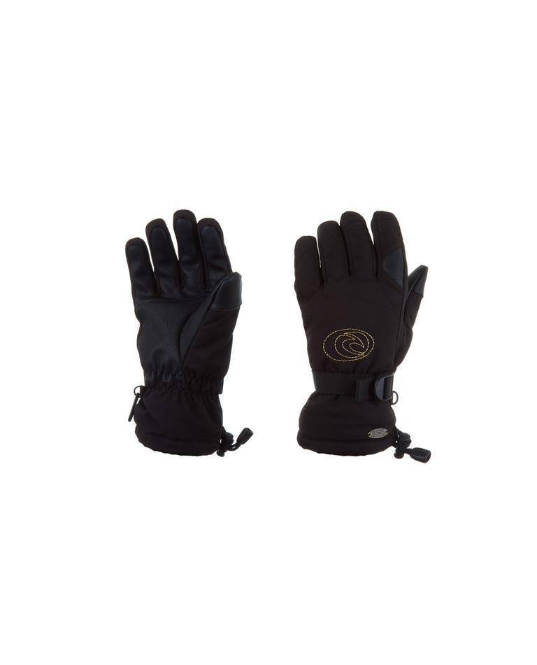 Rider Snow Gloves Women in Jet Black