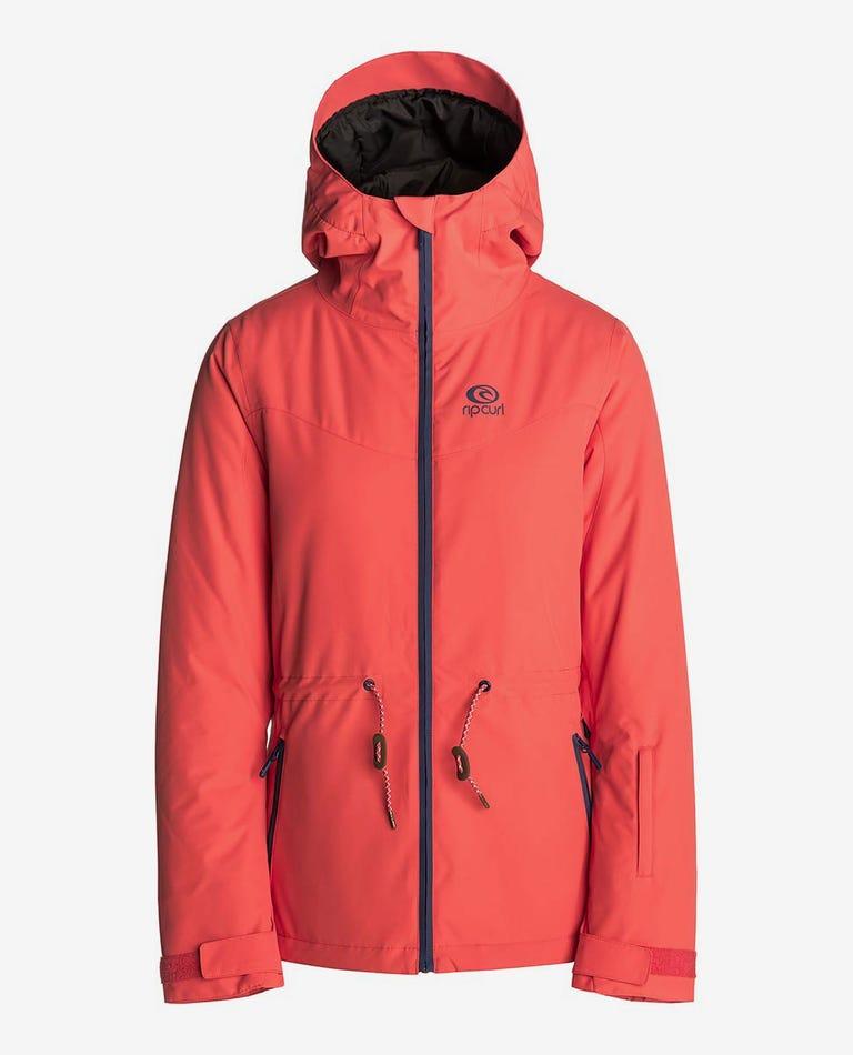 Betty Plain Mountainwear Snow Jacket in Hot Coral